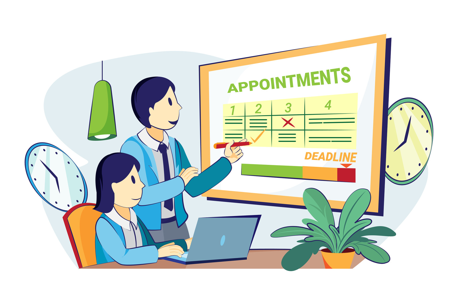 M348_Appointment Scheduling Illustrations