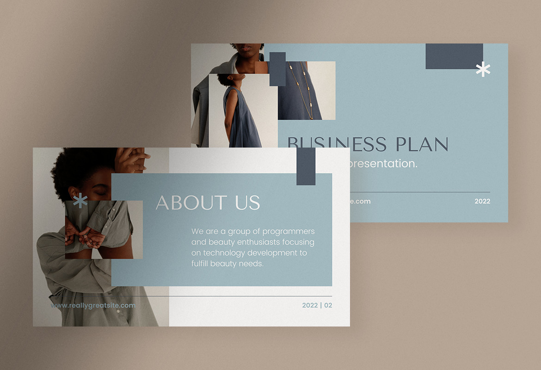 Blue Simple Business Plan Presentation