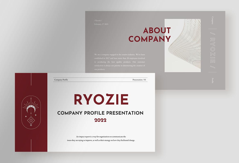 Ryozie - Red Wine Modern Company Profile Presentation