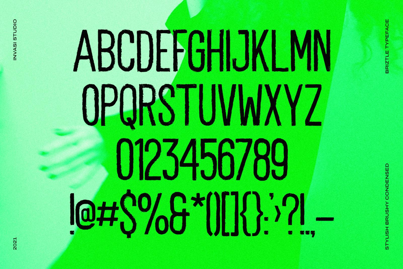 Briztle - Condensed Font