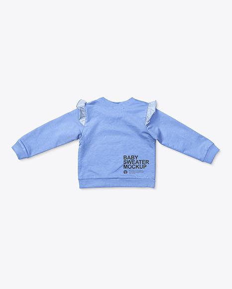 Baby Girl Ruffled Shoulders Jumper Mockup