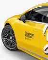 Electric Luxury Car Mockup - Back Half Side View (High-Angle Shot)