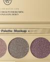 Metallized Eyeshadow Palette Mockup