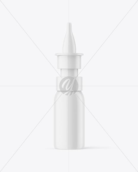 Matte Nasal Spray Bottle Mockup