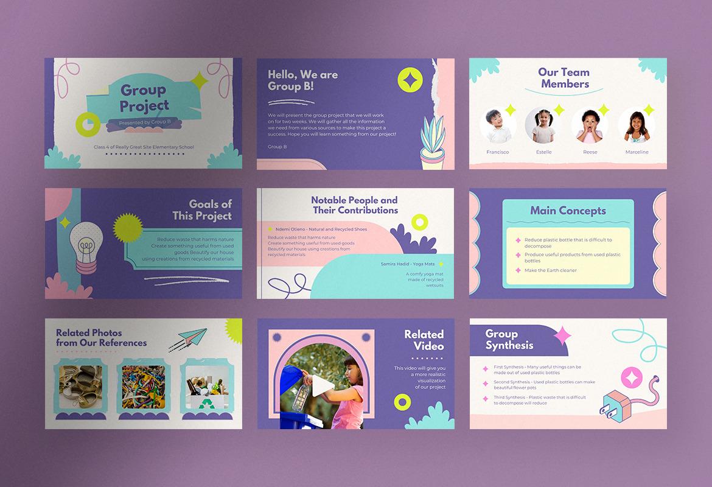 Sweet Bubblegum Animated Playful Group Project Presentation