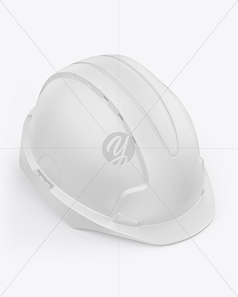 Matte Hard Hat Mockup