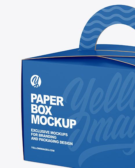 Paper Box w/ Handle Mockup