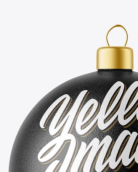 Textured Christmas Ball Mockup