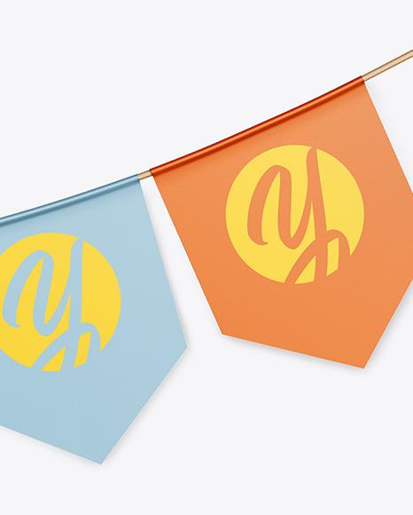Festive Flags Garland Mockup