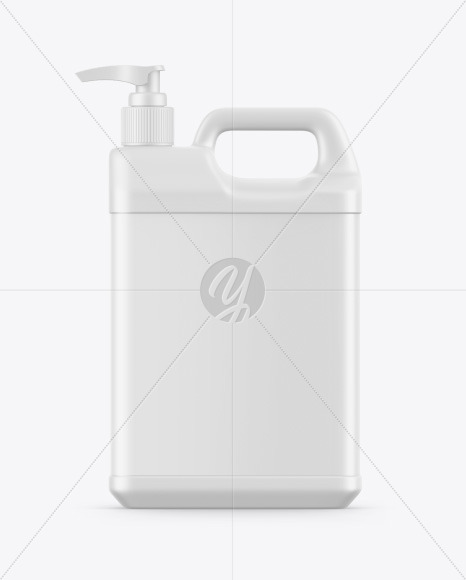 Plastic Jerry Can W/ Pump Mockup