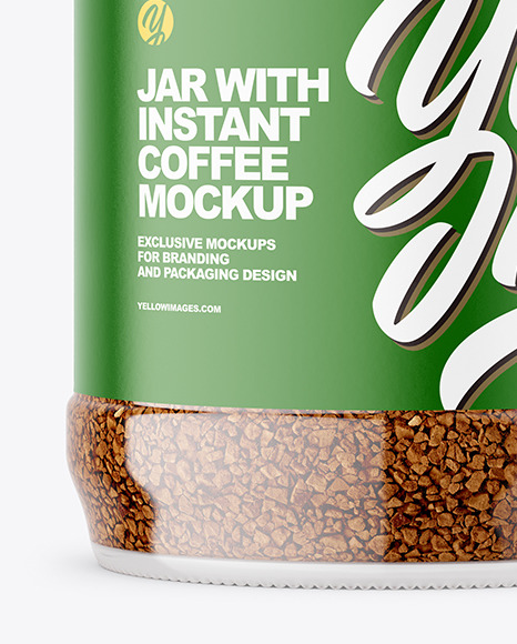 Instant Coffee Glass Jar Mockup