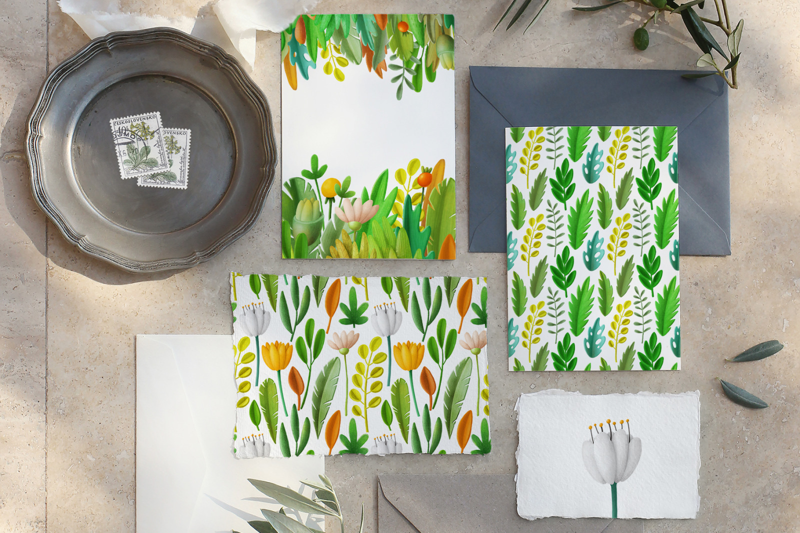 Greenery clip Art Collection