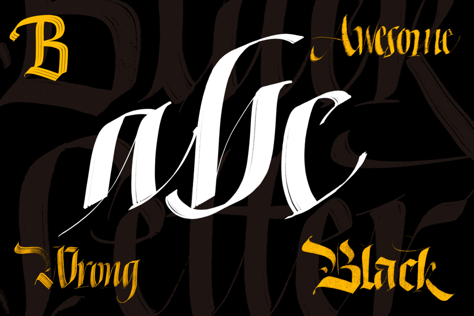 Download Blackletter Brush Pack for Procreate in Brushes on Yellow ...