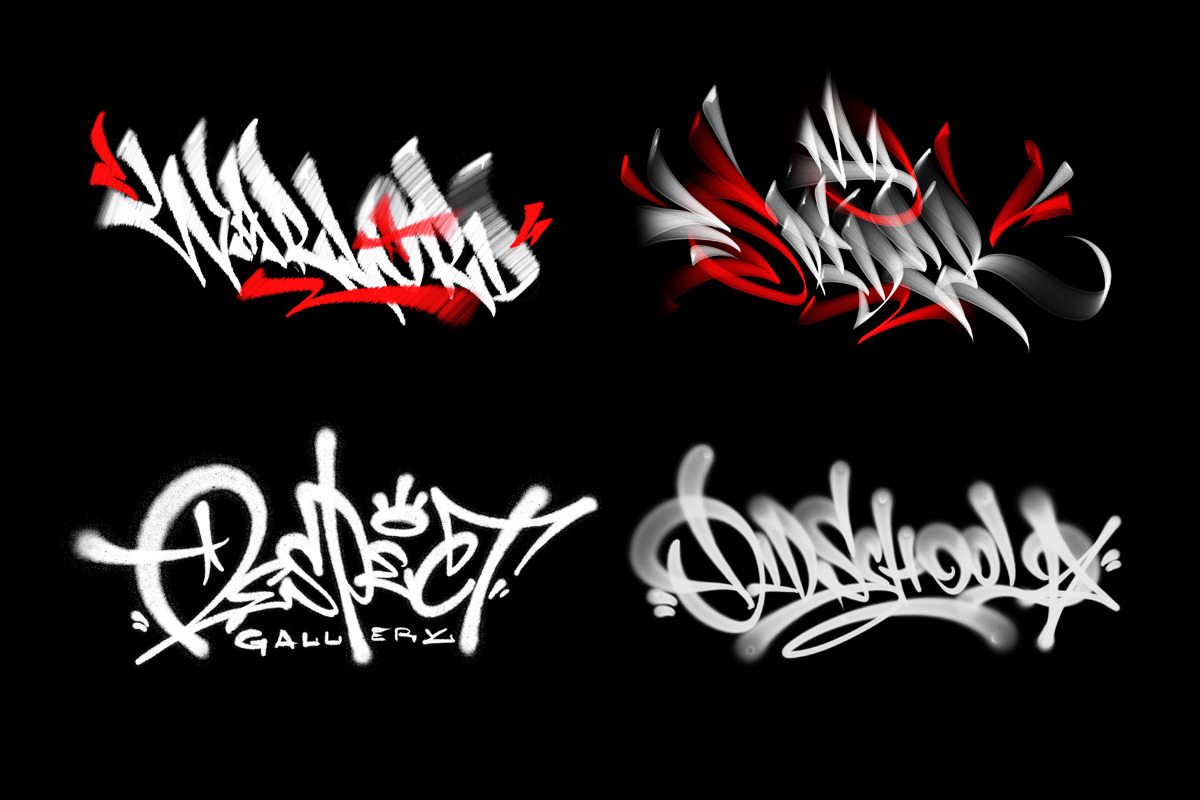 Spray Brush Pack for Graffiti in Procreate