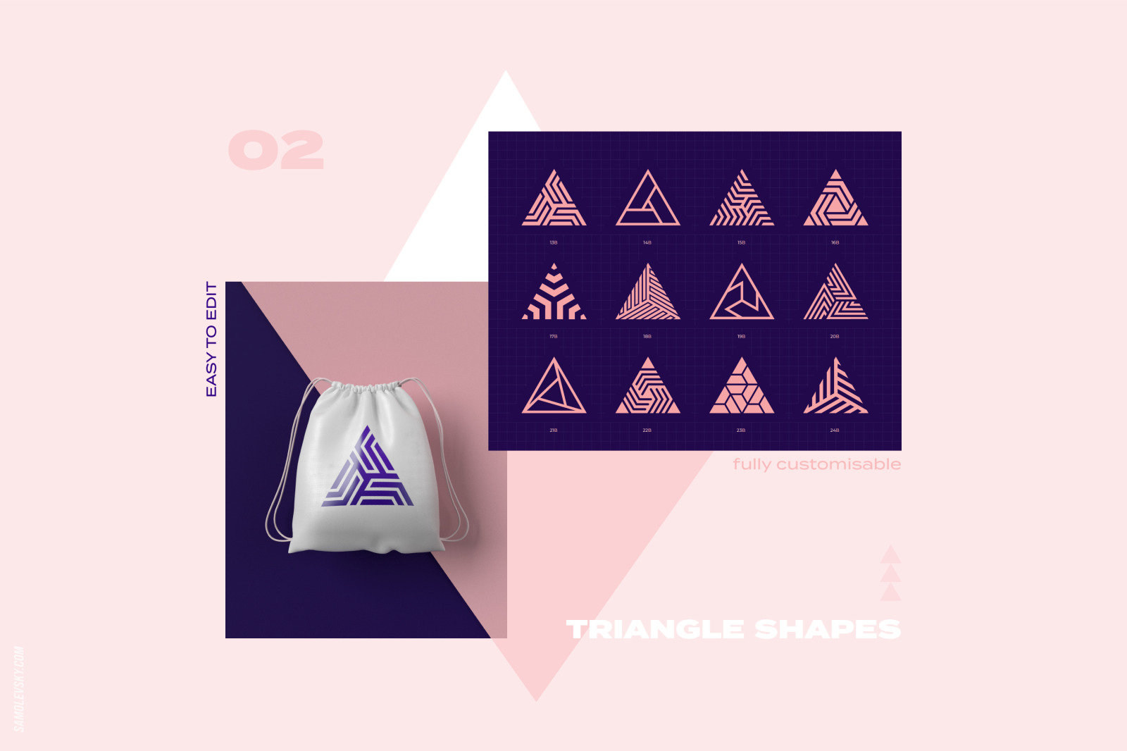 96 Geometric shapes & logo marks collection Vol.1