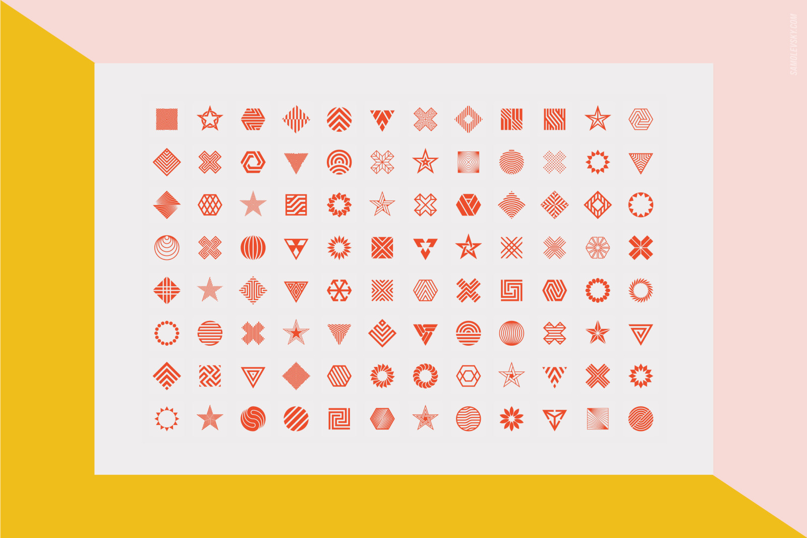 96 Geometric shapes & logo marks collection Vol.2