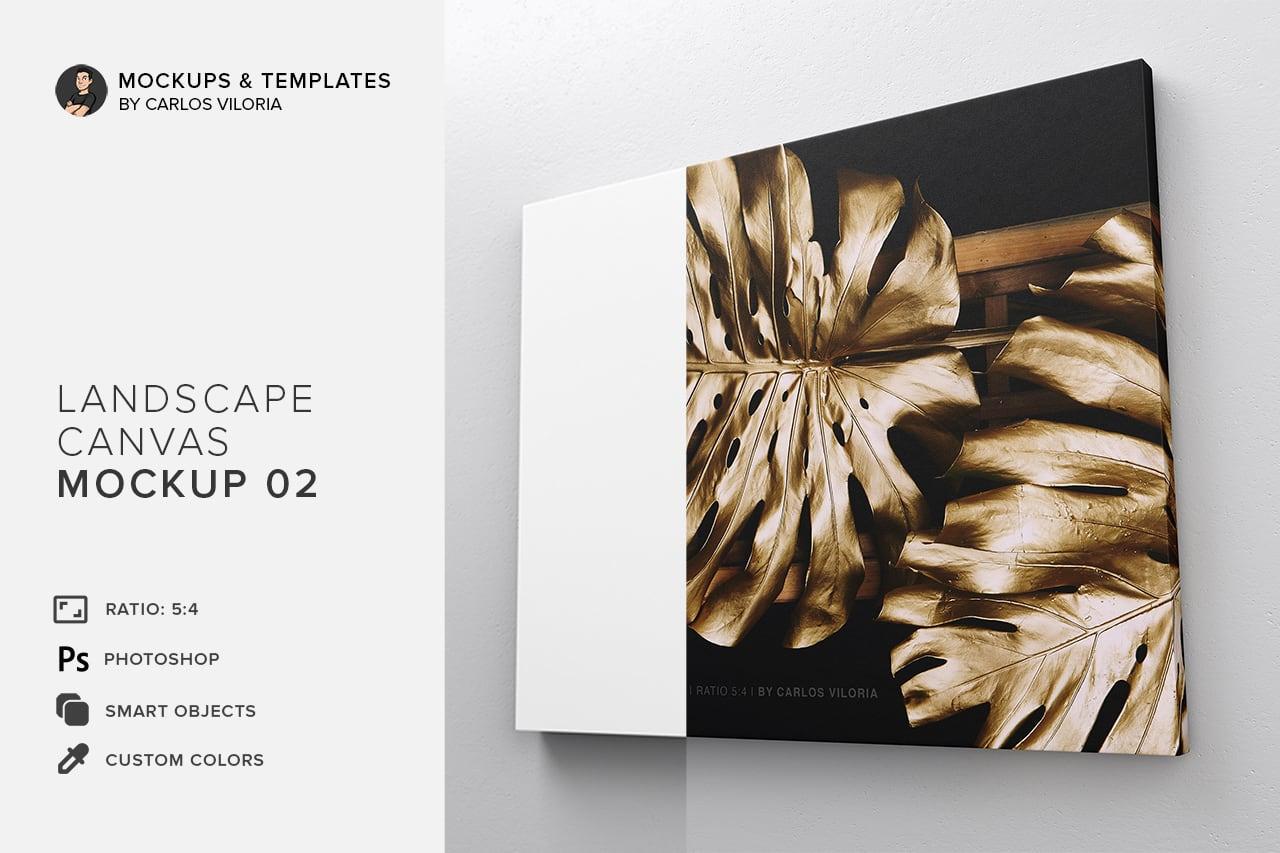 Landscape Canvas Ratio 5x4 Mockup 02