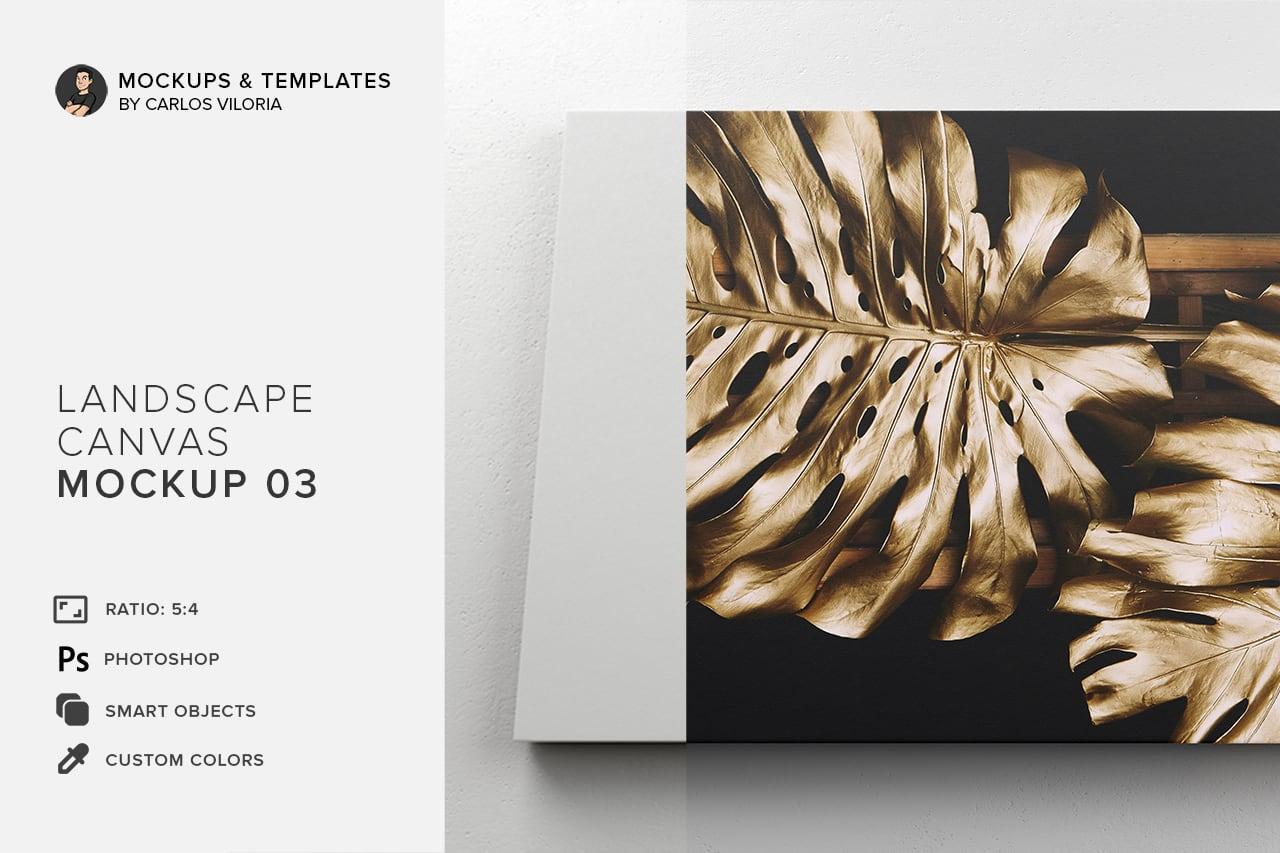 Landscape Canvas Ratio 5x4 Mockup 03