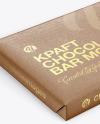 Kraft Matte Chocolate Bar Mockup - Halfside View (High Angle Shot)