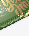 Glossy Chocolate Bar Mockup - Halfside View (High Angle Shot)