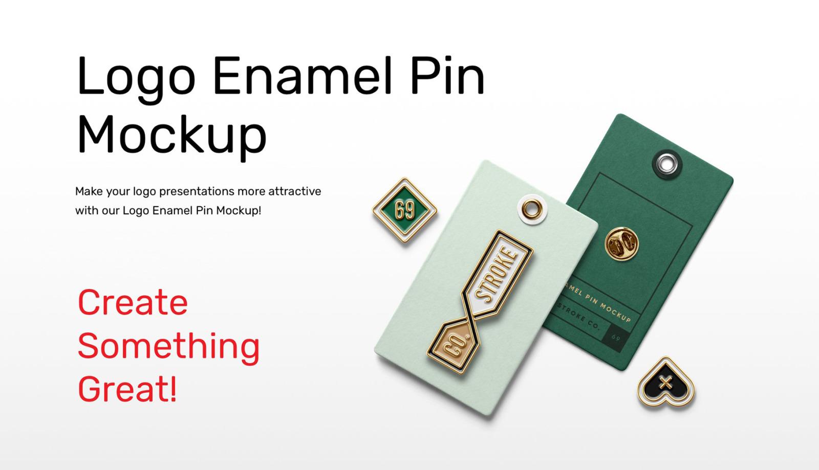 Logo Enamel Pin Mockups