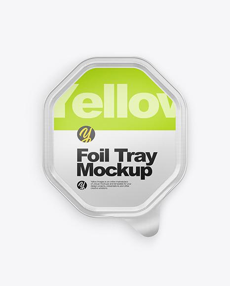 Glossy Foil Tray Mockup