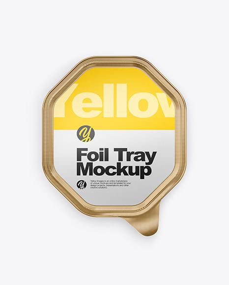 Download Metallic Foil Tray PSD Mockup