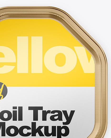 Metallic Foil Tray Mockup