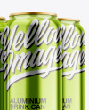 6 Pack Cans Mockup