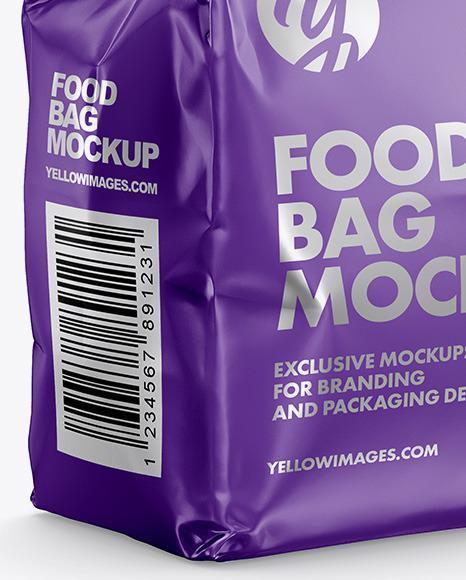 Matte Food Bag Mockup - Halfside View