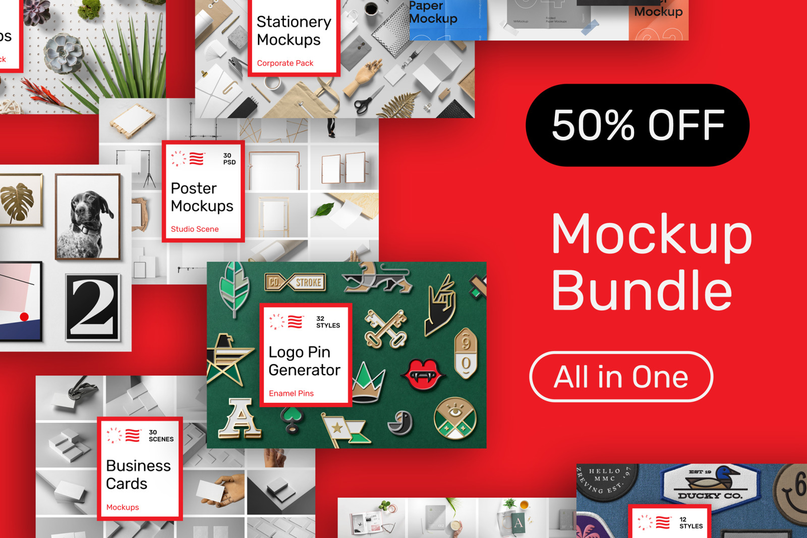 Mockups Bundle - All in One Pack