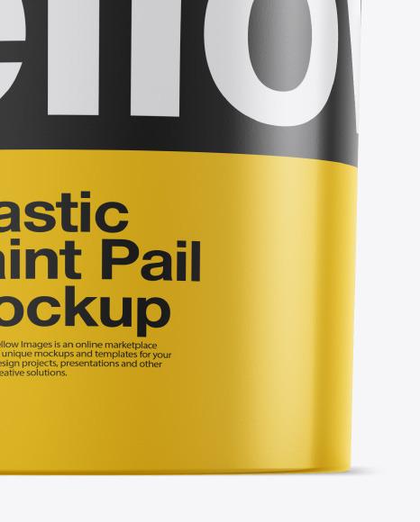 Plastic Bucket Mockups