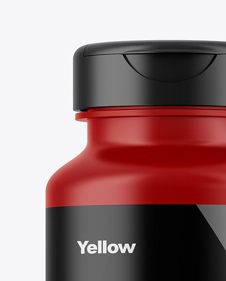 Download Matte Plastic Bottle Mockup In Bottle Mockups On Yellow Images Object Mockups