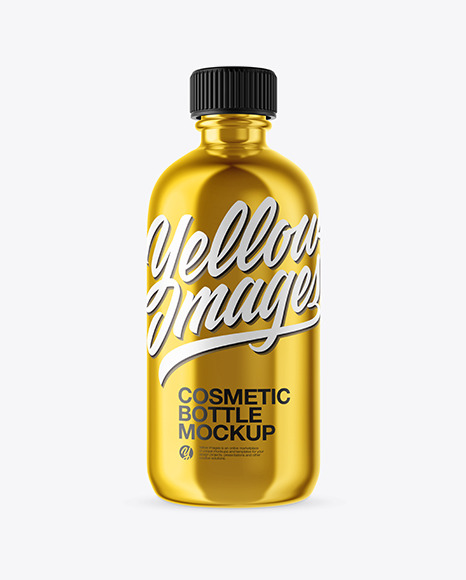 Metallic Cosmetic Bottle Mockup