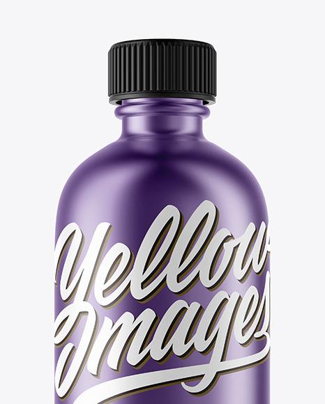 Matte Metallic Cosmetic Bottle Mockup