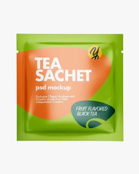 Paper Tea Sachet Mockup