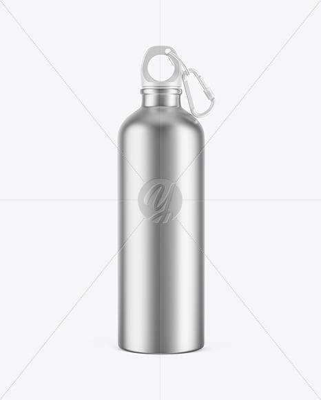 Metallic Water Bottle Mockup