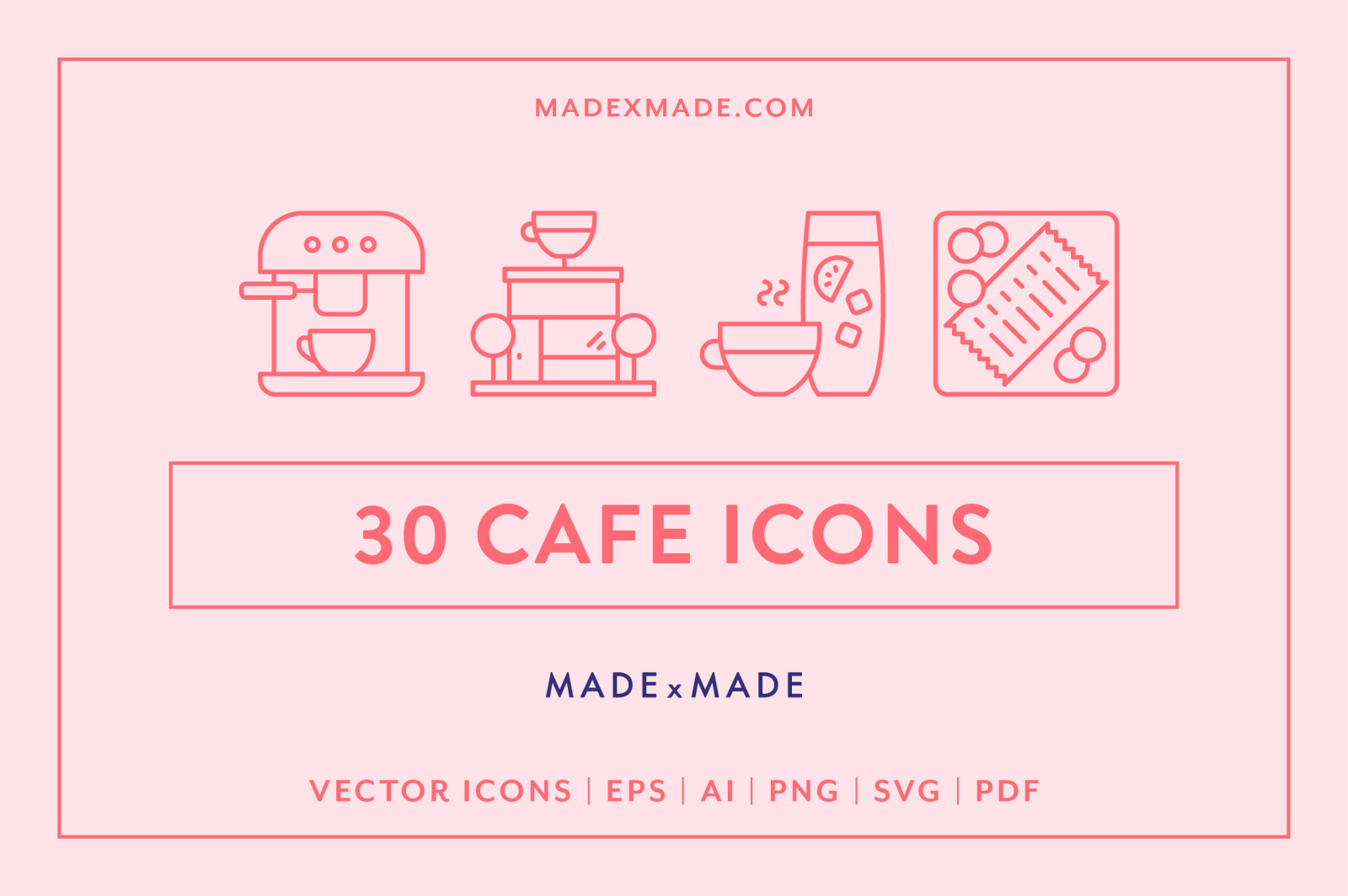 Line Icons – Cafe