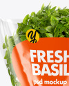 Plastic Bag With Green Basil Mockup