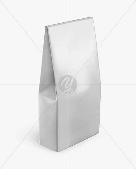 Glossy Bag Mockup - Halfside View (High-Angle Shot)