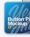 Square Button Pin Mockup