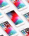 Isometric Apple iPhone 7 Plus Mockup