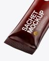 Glossy Stick Sachet Mockup