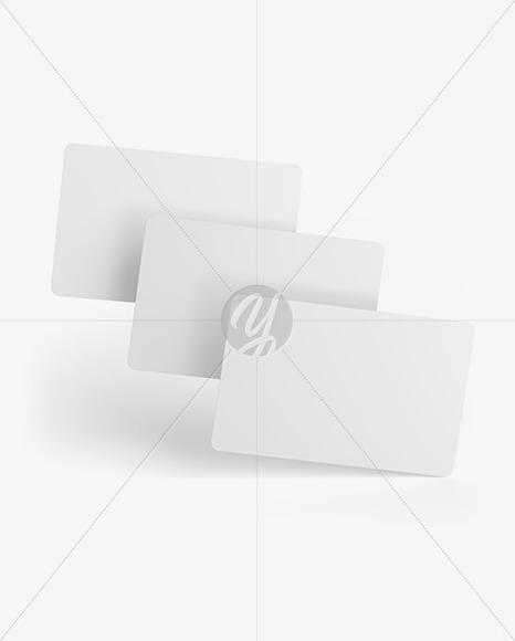 Tree Plastic Cards Mockup