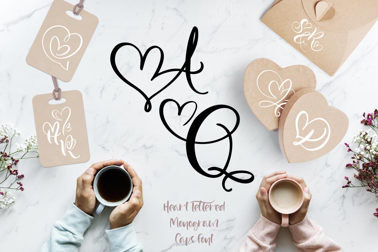 Wedding Heart Monogram Font