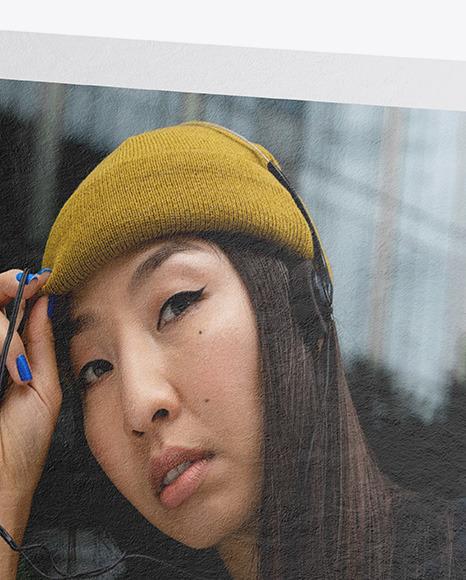Textured Snapshot w/ Transparent Pin Mockup