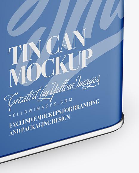 Oil Tin Can Mockup