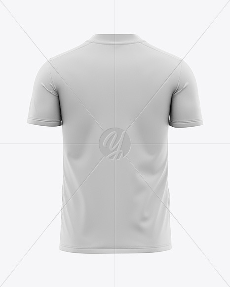 Men's V-Neck Soccer Jersey Mockup - Back View - Football Jersey Soccer T-shirt