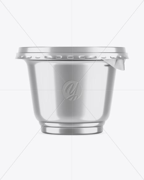 Metallic Plastic Cup Mockup