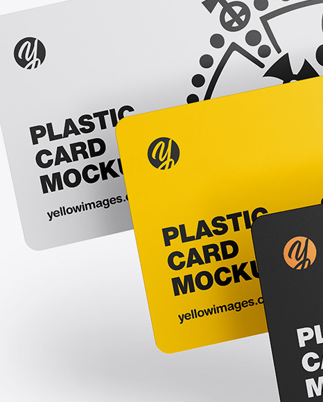 Tree Plastic Cards Mockup